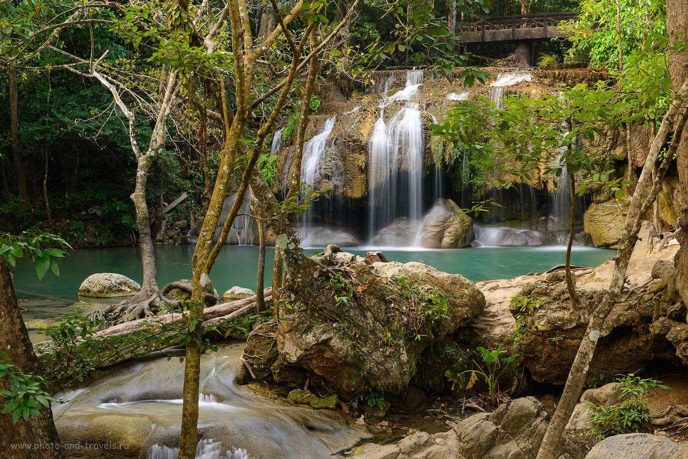 Фото 10. Вторая ступень водопада Эраван. Экскурсии из Паттайи. Отдых в Таиланде. (50, f/16, ФР=56мм, 2.5 секунды)