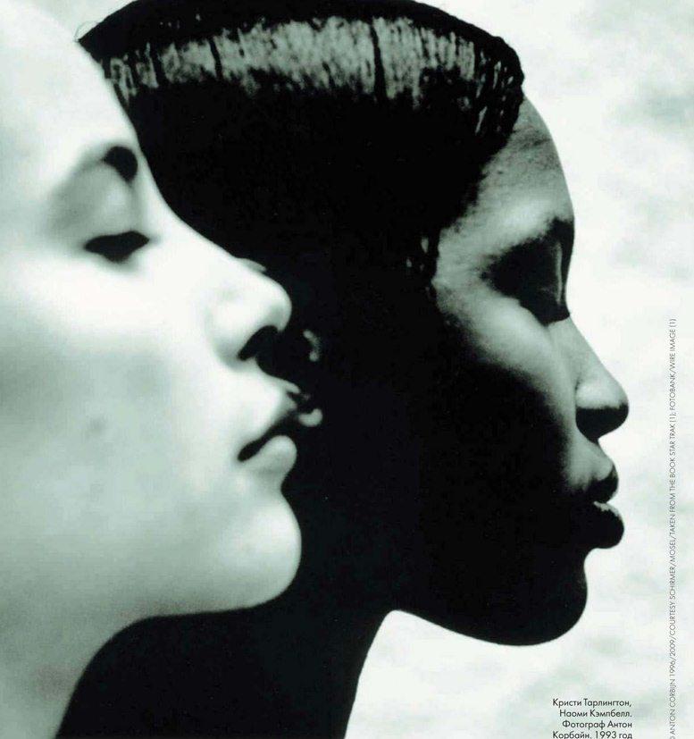 Christy Turlington / Кристи Тарлингтон, Naomi Campbell / Наоми Кэмпбелл, фотограф Anton Corbijn. 1993 год