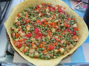 Пирог с заварным кремом и начинкой из тофу