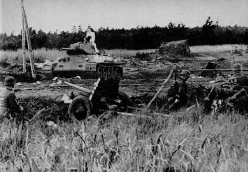 �������� ������� �� ����������� ��������� ��������. �� �������� ����� ����� ��������� 45-�� �����, ������ — ��������� ���� �-34 ������� 1940 ����. ����� ������: 1941