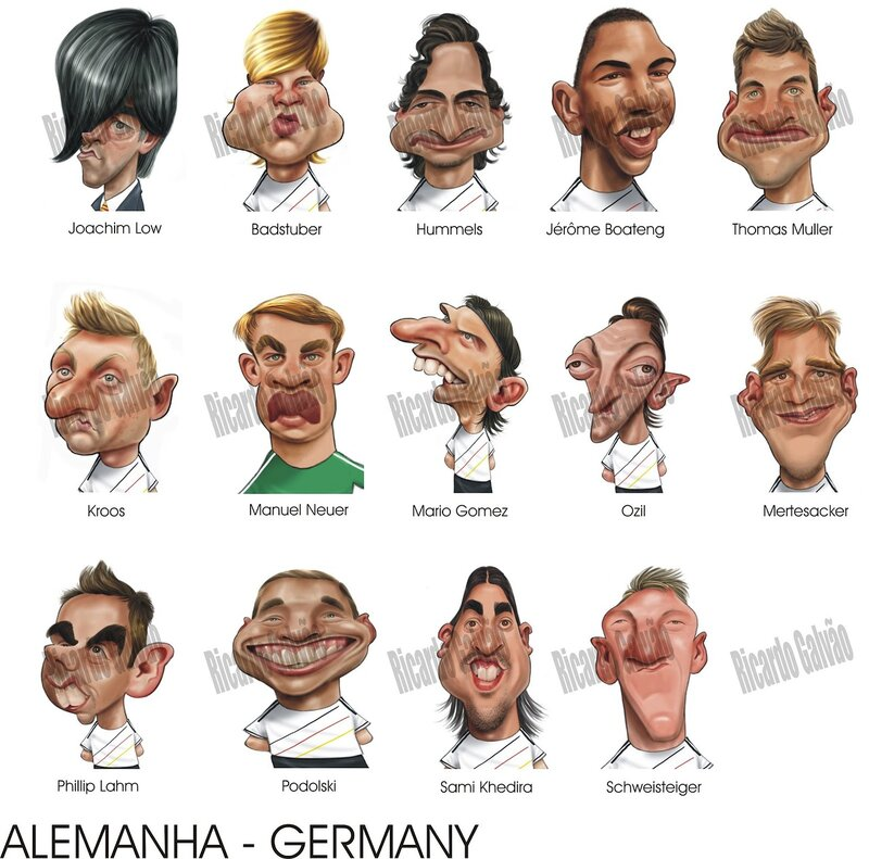 Классная карикатуры игроков Евро 2012