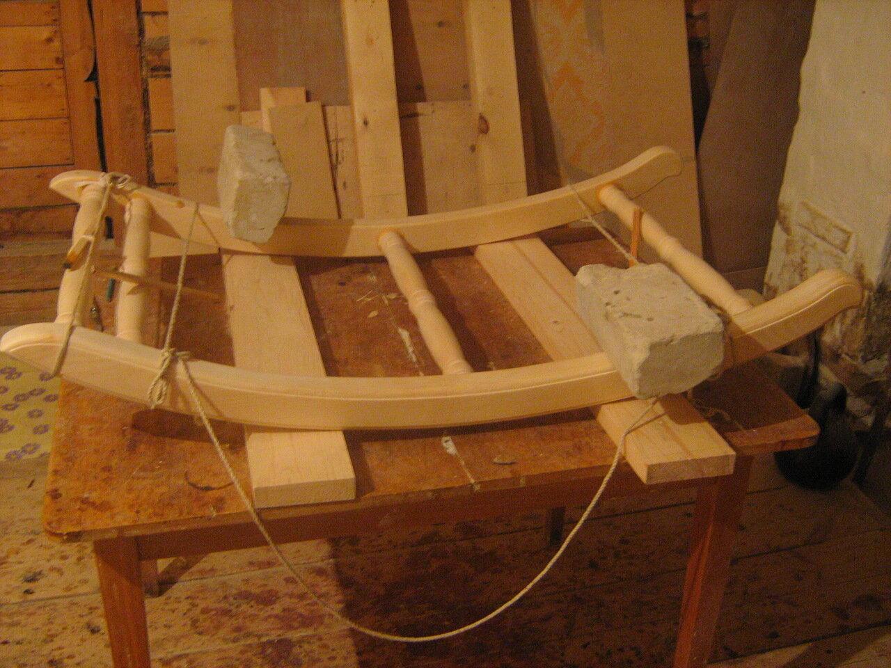 Кресло качалка своими руками из бруса 29