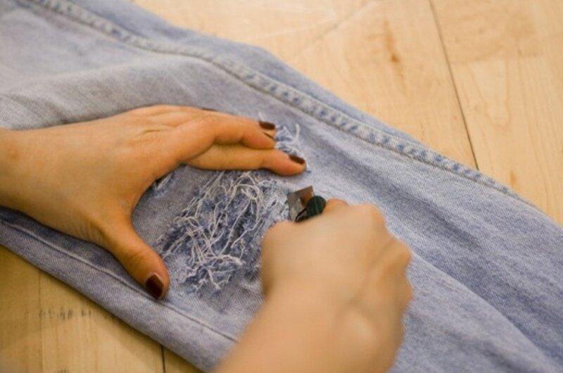 Мятые джинсы своими руками 16
