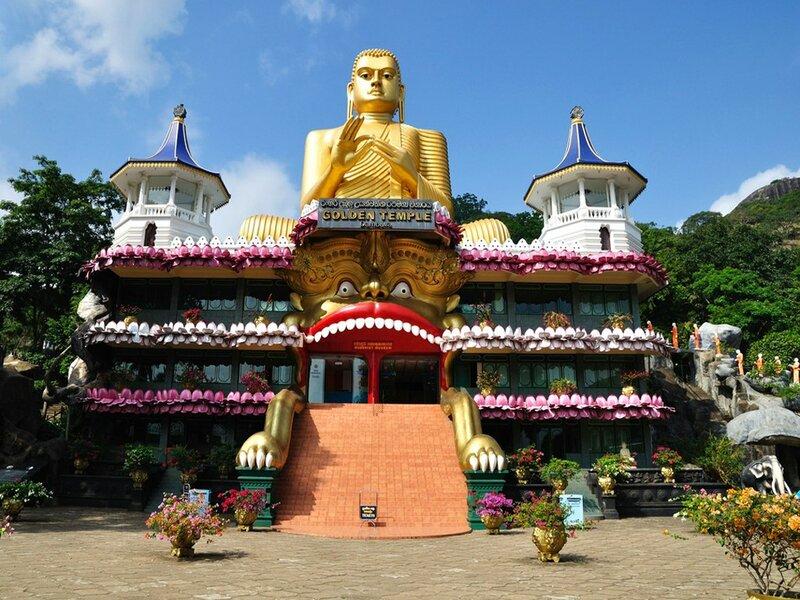 Золотой Храм Дамбулла, Шри-Ланка.