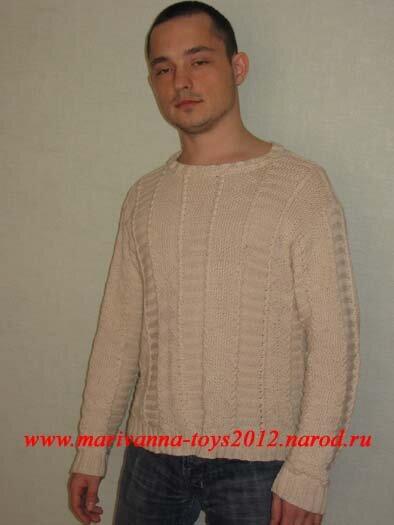 Вязание. описанием и схемой вязания.  А модели связанные крючком тут: Вязание для мужчин крючком - Мужской свитер в...