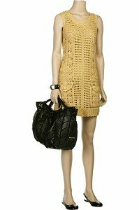 Золотое платье крючком от Diane Von Furstenberg
