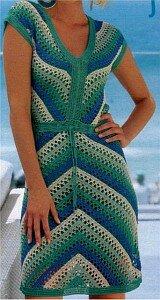 Бирюза и свежая зелень - крючок, платье Наши воплощения