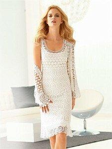 Белый шоколад на фоне прилива-жакет/платье из каталога wenz Наши воплощения