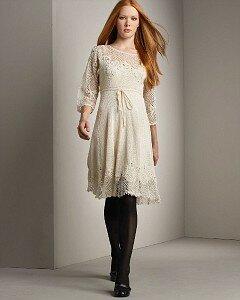 Платье-загадка. Творчество крючком и спицами