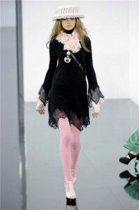 Платье цвета ночи - Chanel зима 2009