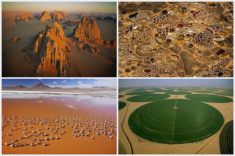 Вид на пустыни с воздуха