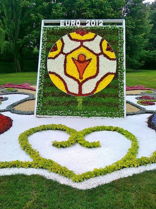 Выставка цветов к Евро 2012 на Певческом поле