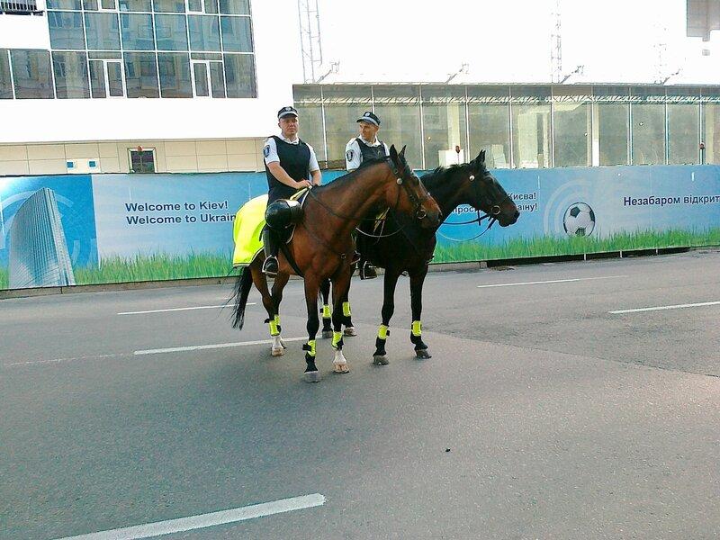 Конная милиция на Евро 2012 в Киеве