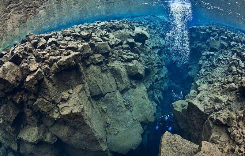Погружение между двух тектонических плит