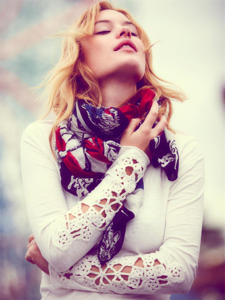 Camille Rowe / Камиль Роу в каталоге одежды Free People, июнь 2012 / фотограф Thomas Northcut