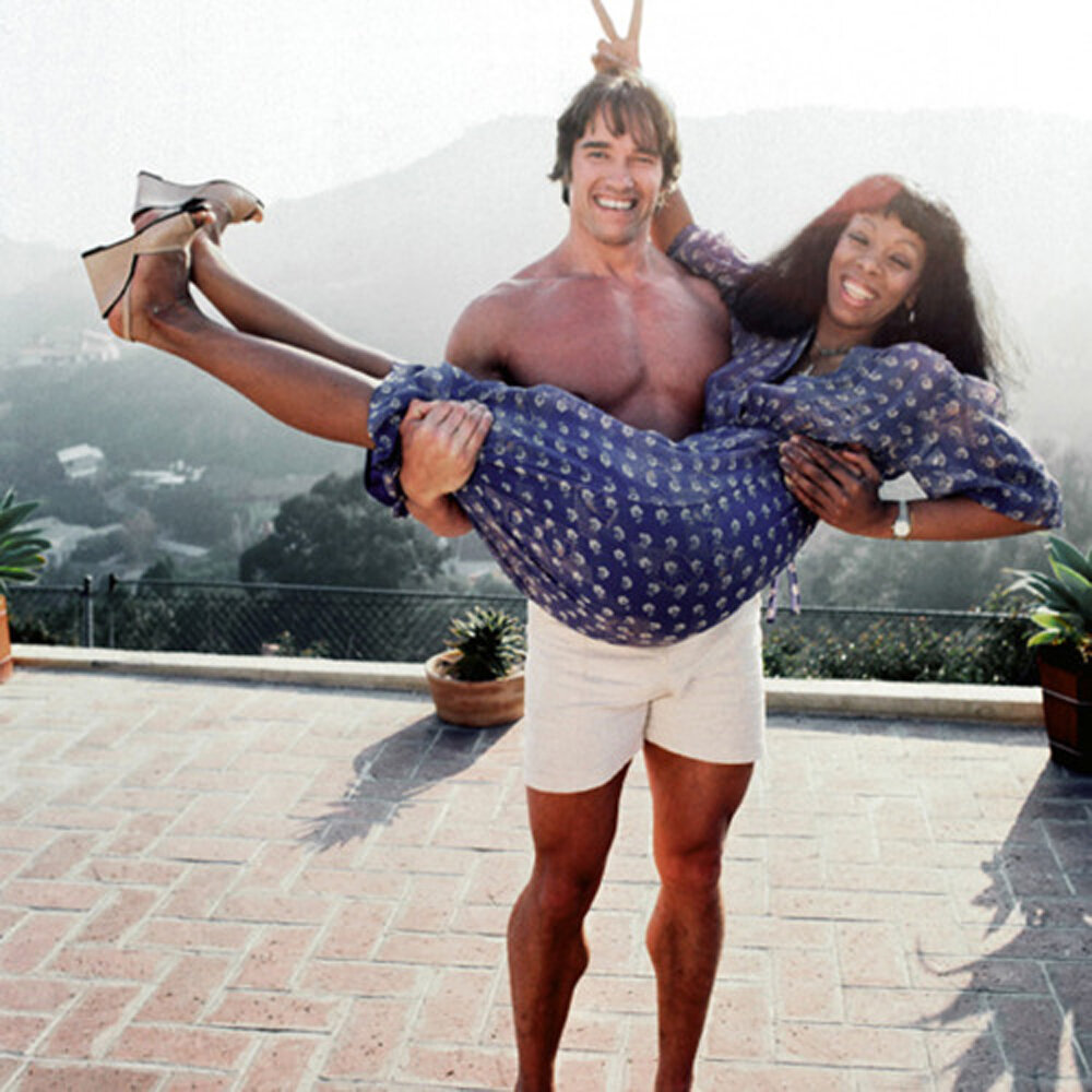Summer Donna with Arnold Schwarzenegger