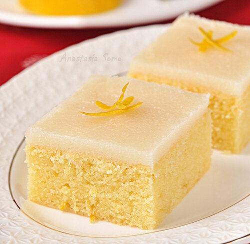 Лимонно-имбирные пирожные