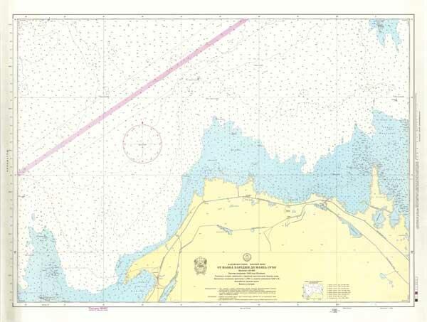 Морская карта от маяка Кареджи до маяка Сухо