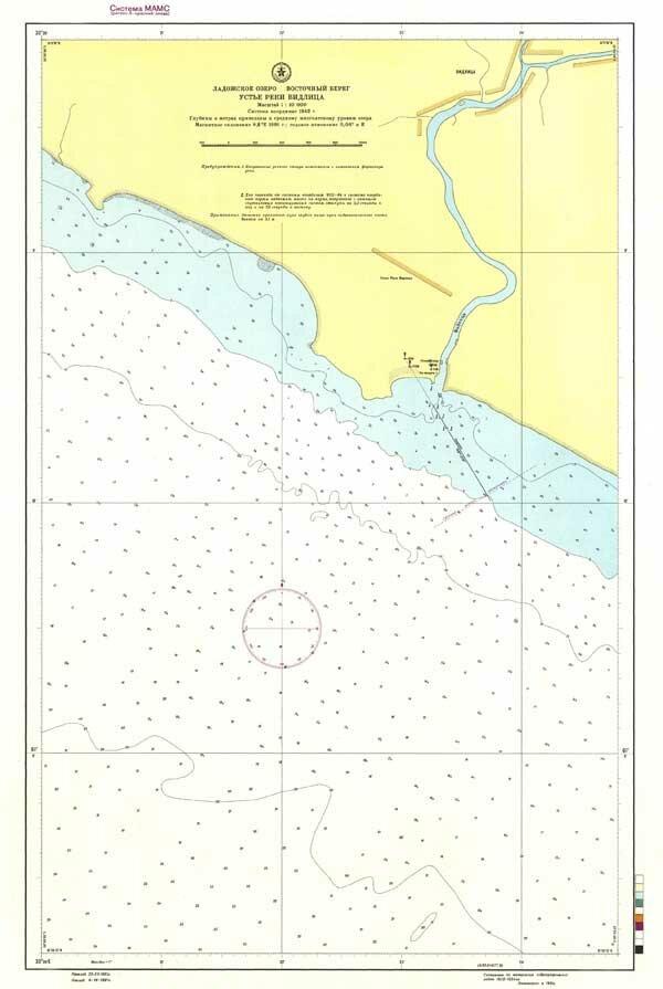 Морская карта устья реки Видлица