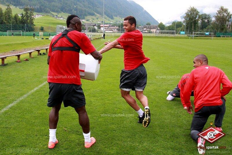 Тренировка «Спартака» в австрийском Нойштифте (Фото)