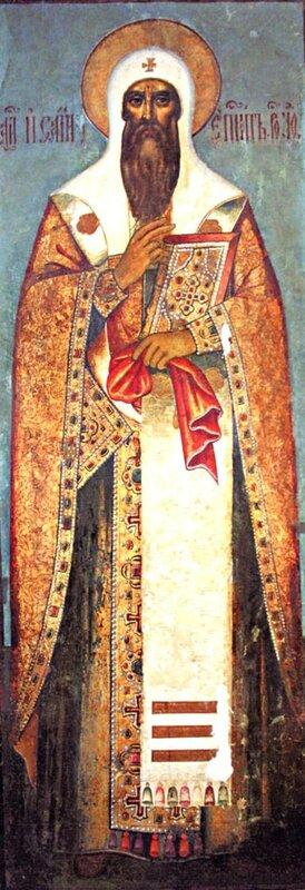 Святитель Исаия, Епископ Ростовский. Икона. Ростов Великий, XVII век.