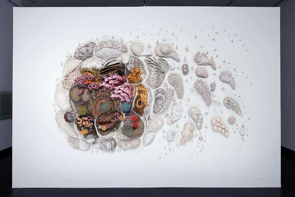 Керамических скульптуры коралловых рифов