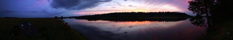 Панорама заката на Вятке. Вид с острова