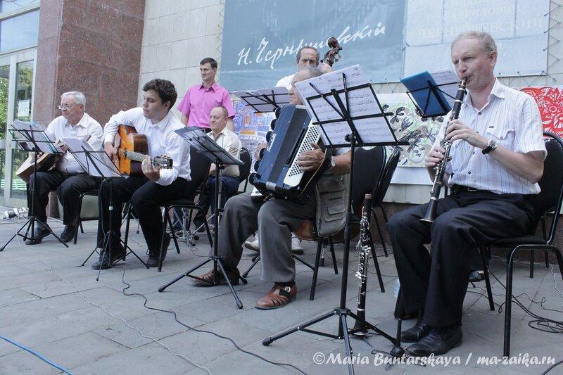 Джаз-оркестр 'РЕТРО',  Саратов, музей Н.Г.Чернышевкого, 24 июня 2012 года