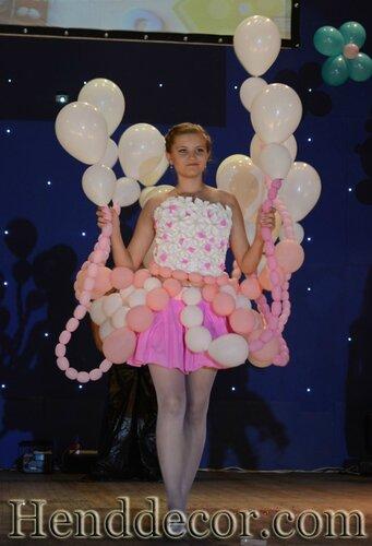 Платье своими руками из шариков
