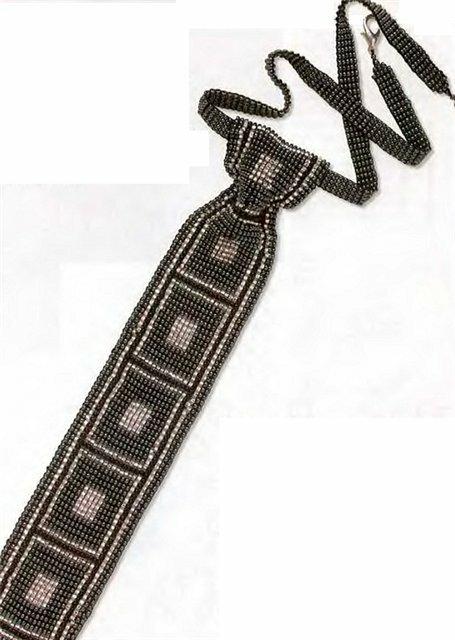 Схемы к галстукам из бисера.