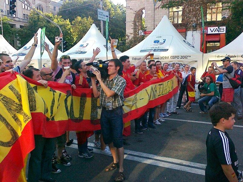 Испанские болельщики в день финала Евро 2012