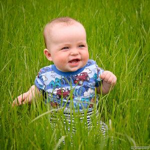 Малыш в траве (ребенок, трава)