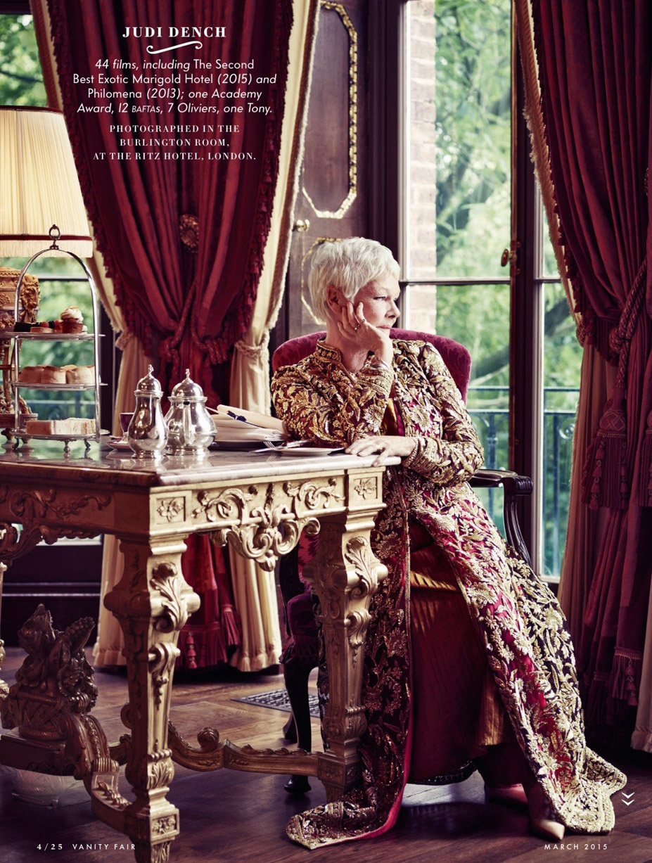 Лучшие британские актеры в проекте The 2015 Hollywood Portfolio by Jason Bell in Vanity Fair march 2015 - Джуди Денч / Judi Dench