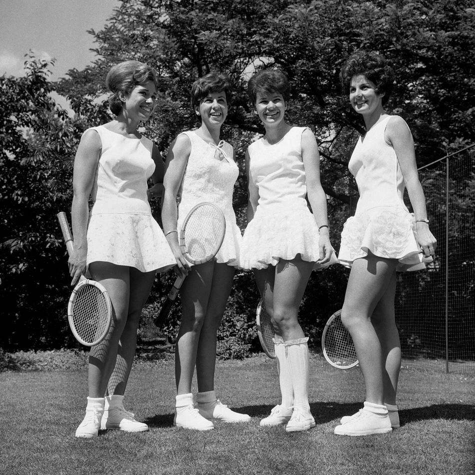 Tennis stars at a pre-Wimbledon tennis party held at the Hurlingham Club in London 1965