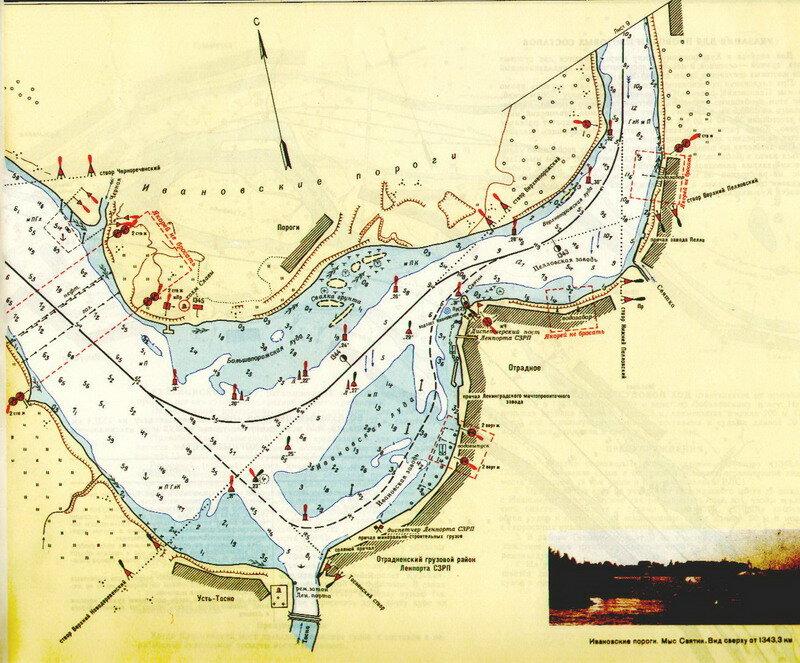 схема течения реки невы