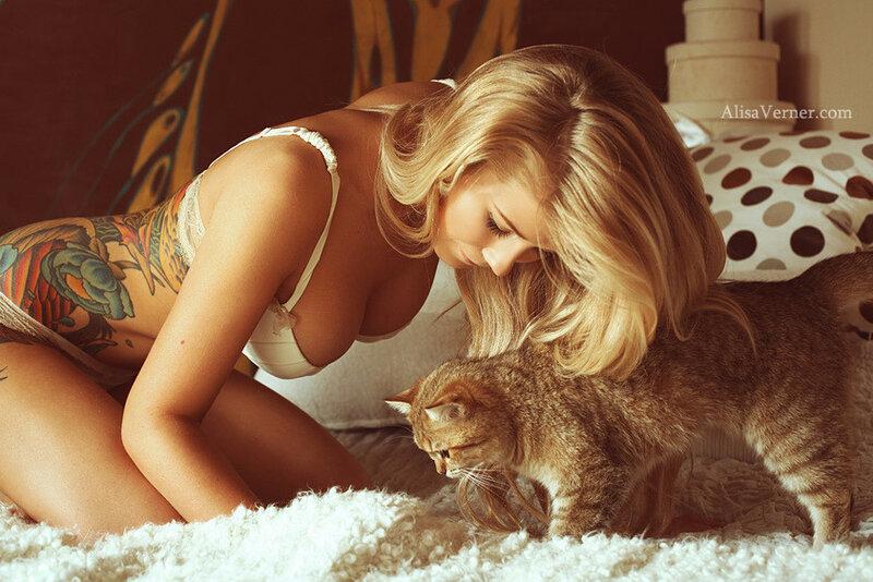 Maria & cat