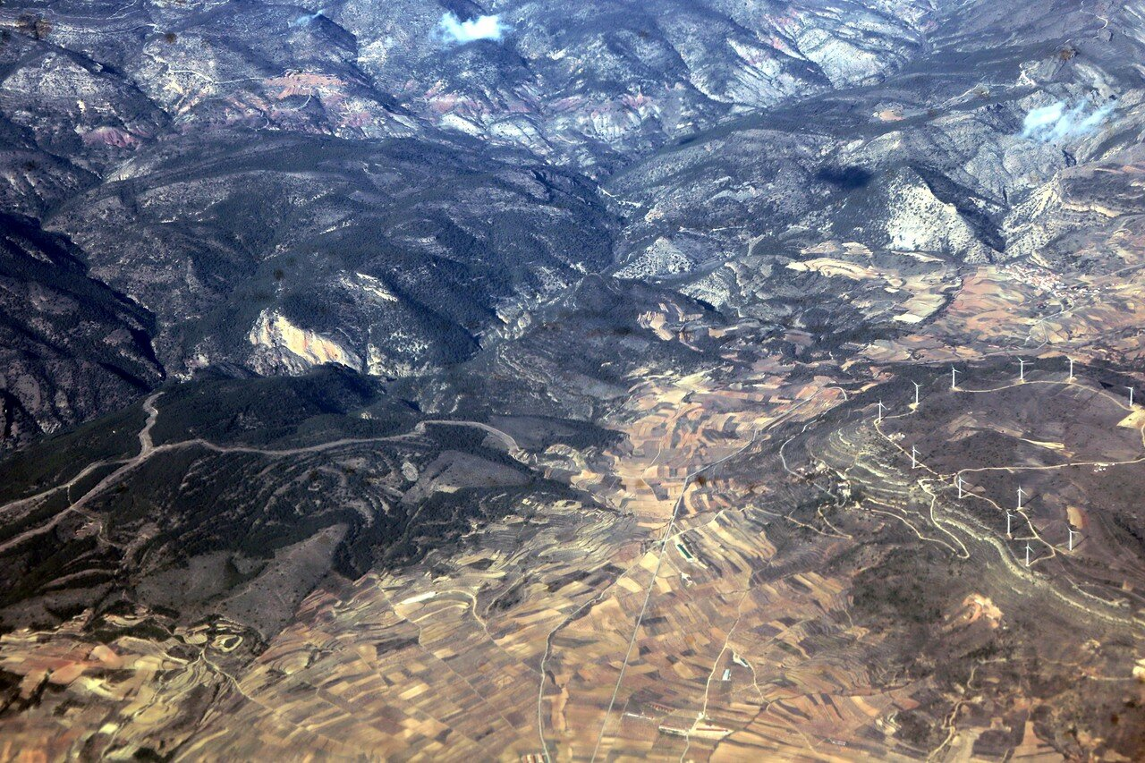 The mountains of Valencia, the view from the plane