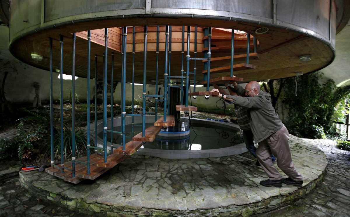 Гелиодом, биоклиматический солнечный дом недалеко от Страсбурга, на востоке Франции, представляет со