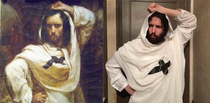 Слева — «Портрет Теофиля Готье», Леон Ризенер, справа — @avner_peres.