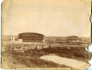 Общий вид железного моста через реку Тобол у Кургана