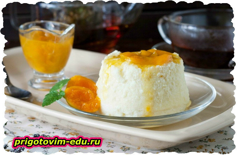 Сладкий омлет с абрикосами в аэрогриле