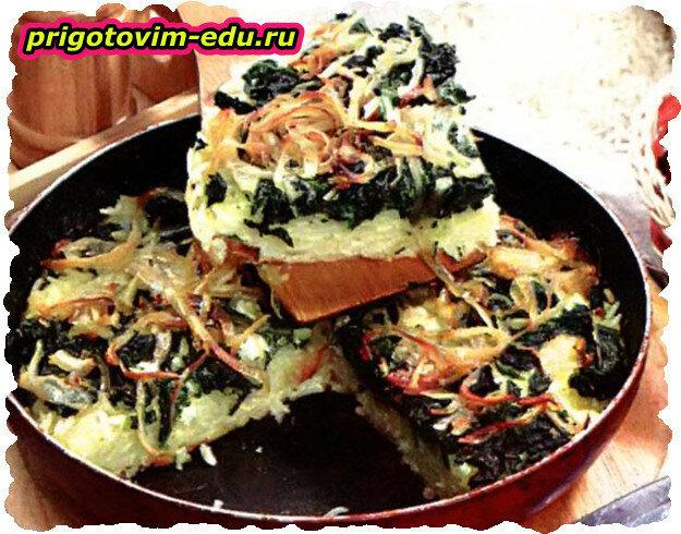 Запеканка из риса с зеленью