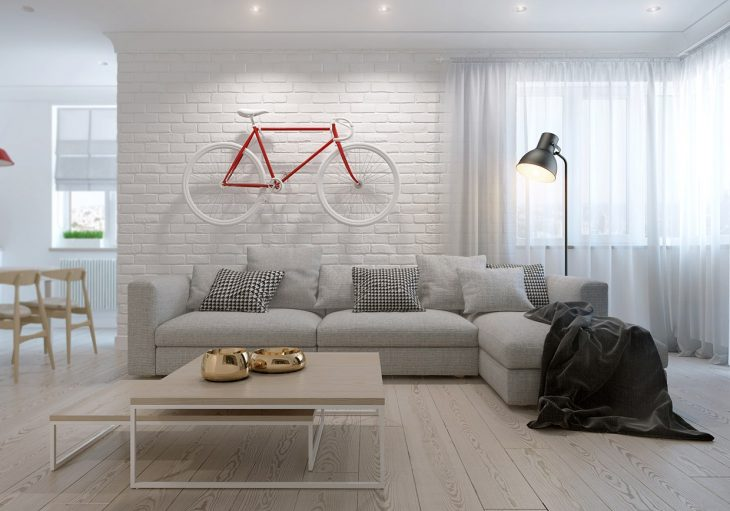Take a quick tour of this contemporary minimalistic scandinavian style apartment named