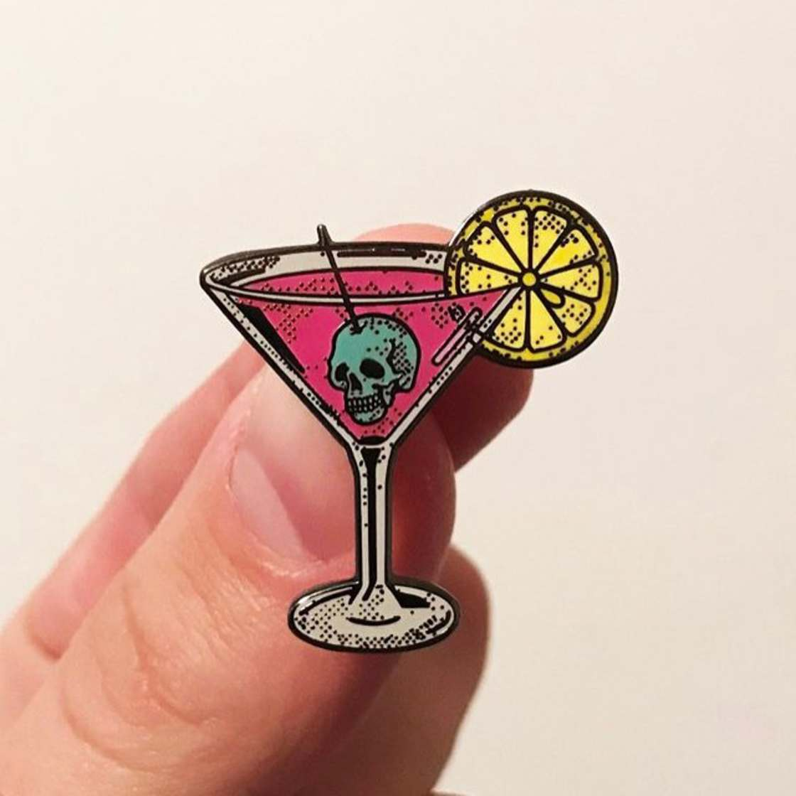 The pop and colorful pins by Strike Gently