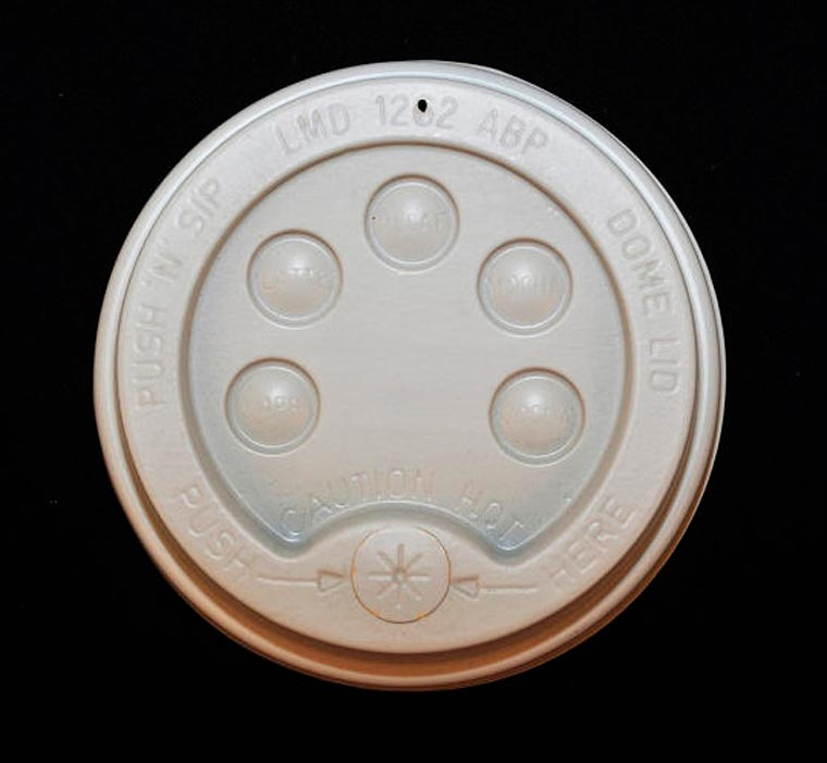 Coffee Lids - An impressive collection of 550 disposable coffee lids