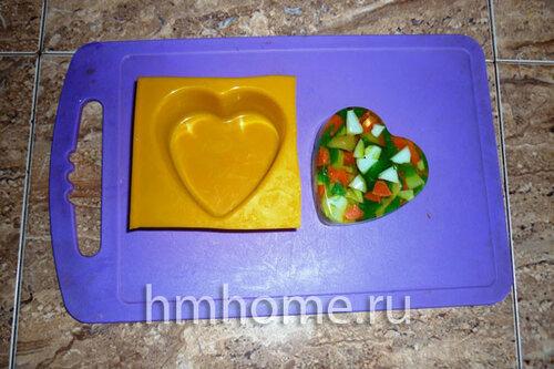 Как сделать мыло с мозаикой