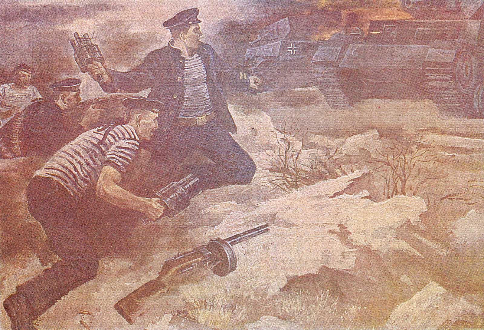 Героический подвиг пяти моряков-черноморцев во главе с политруком Н.Фильченковым.jpg