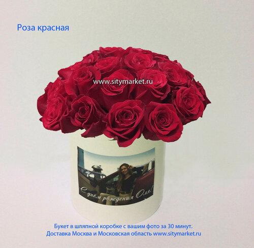 Розы в шляпной коробке, люльке за 30 минут