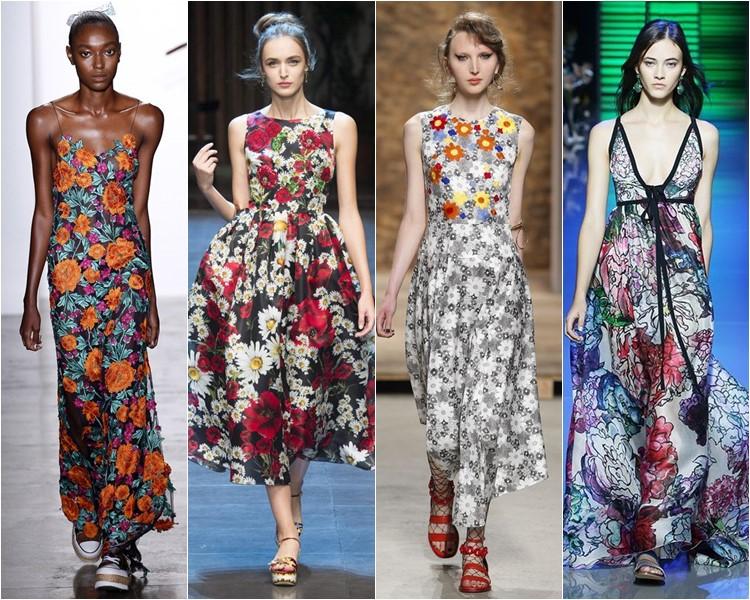 цветочные сарафаны и летние платья 2016