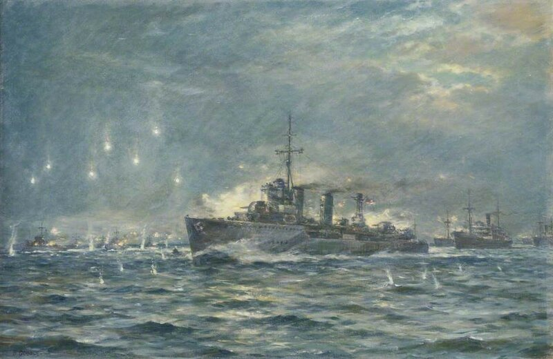 The Destroyer HMS 'Wallace' in Action During the Second World War